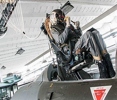 Schleudersitz im Luftfahrtmuseum Wernigerode