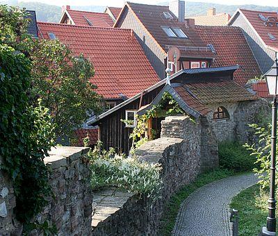 Die Stadtmauer im Bereich Burgstraße-Burgberg