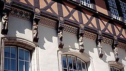 Knaggenfiguren am Rathaus in Wernigerode
