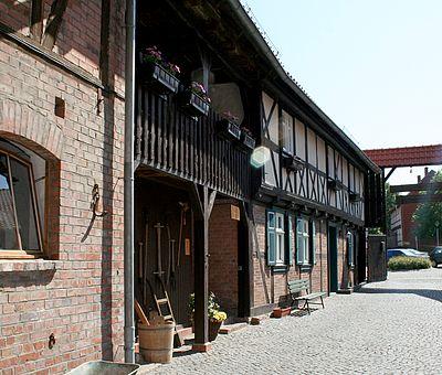 Der Innenhof des Museumshofes Silstedt bei Wernigerode
