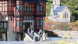 Das Rathaus von Wernigerode im Miniaturenpark Kleiner Harz