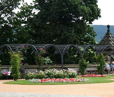 Laubengang auf den Schlossterrassen in Wernigerode