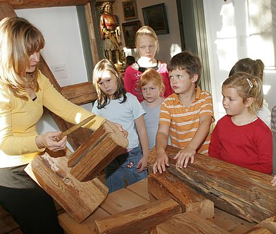 Kindergruppe im Harzmuseum