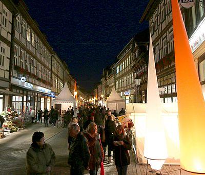 Breite Strasse in Wernigerode zum Schokoladenfestival