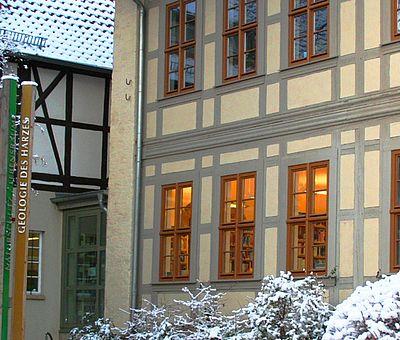 Aussenansicht des Harzmuseums im Winter