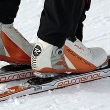 Skibindungen im Schnee