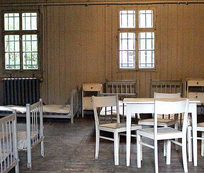 Krankenbereich in der Mahn- und Gedenkstätte