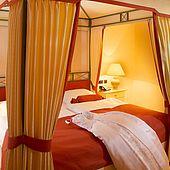 Himmelbett im Hotel Weisser Hirsch Wernigerode