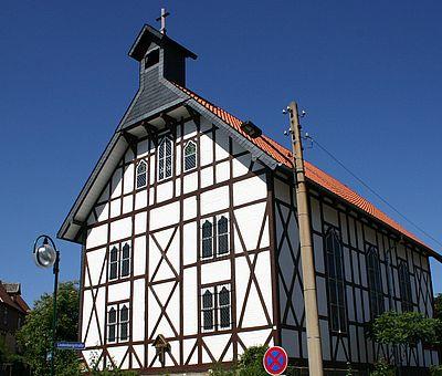 Aussenansicht der Kreuzkirche in Wernigerode