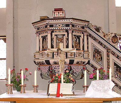 Altar in der Kreuzkirche Wernigerode