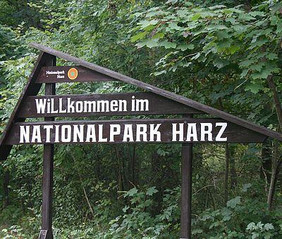 Eingangsschild Nationalpark Harz