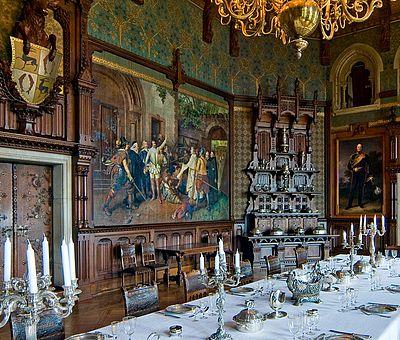 Blick in den großen Festsaal im Schloss Wernigerode