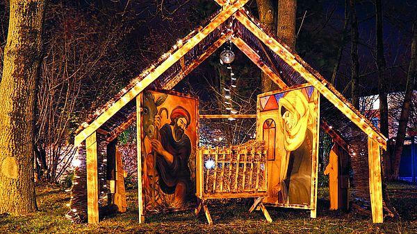 Weihnachtskrippe an der St. Georgii Kapelle in Wernigerode