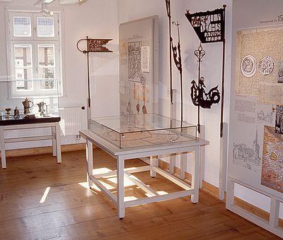 Ausstellungsraum im Harzmuseum zum Thema Stadtgeschichte