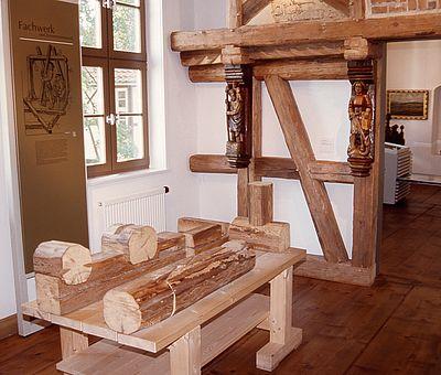 Ausstellungsraum im Harzmuseum zum Thema Fachwerk