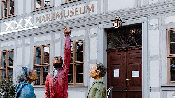 Sterngucker vor dem Harzmuseum in Wernigerode