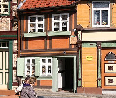 Herbstliche Kleinste Haus in Wernigerode