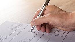 Umfragebogen ausfüllen