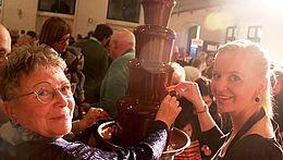 Schokobrunnen zum Schokoladenkonzert im Fürstlichen Marstall