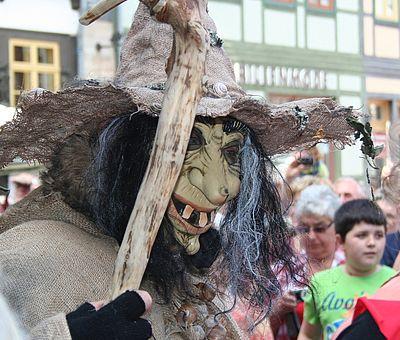 Walpurgis in Wernigerode auf dem Marktplatz