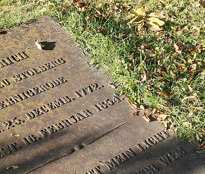 Grabstein auf dem Theobaldifriedhof in Wernigerode