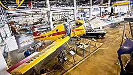 Blick in die Propellerhalle des Luftfahrtmueums in Wernigerode