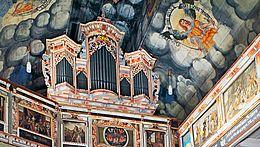 Innenansicht Theobaldikapelle in Wernigerode Orgelempore
