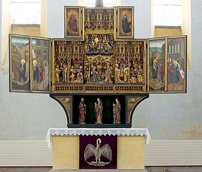 Altar in der St. Sylvestrikirche Wernigerode