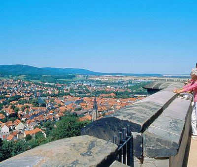 Blick von der Schlossterrasse über die Stadt Wernigerode