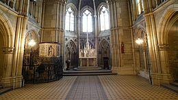 Blick in die Kirche vom Schloss in Wernigerode