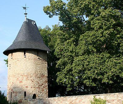 Schalenturm in der Stadtmauer am Burgberg