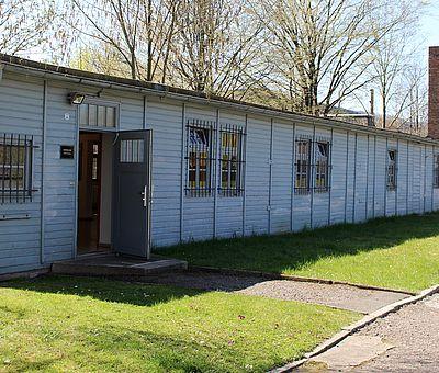 Barackenanlage in der Mahn- und Gedenkstätte Wernigerode