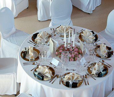 Tischdekoration im Fürstlichen Marstall