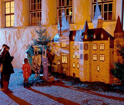 Fotowand Schloss zum Weihnachtsmarkt in Wernigerode